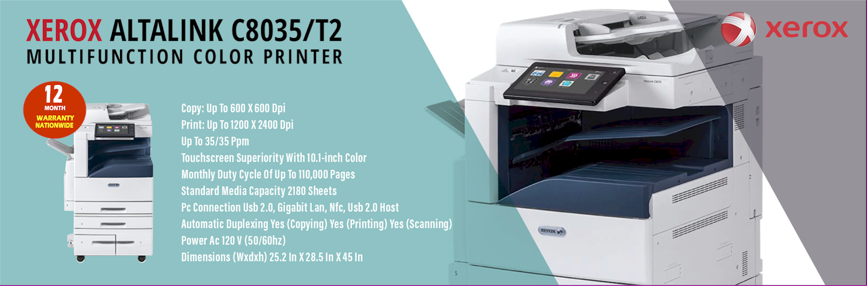 Xerox B8035/T2 Printer