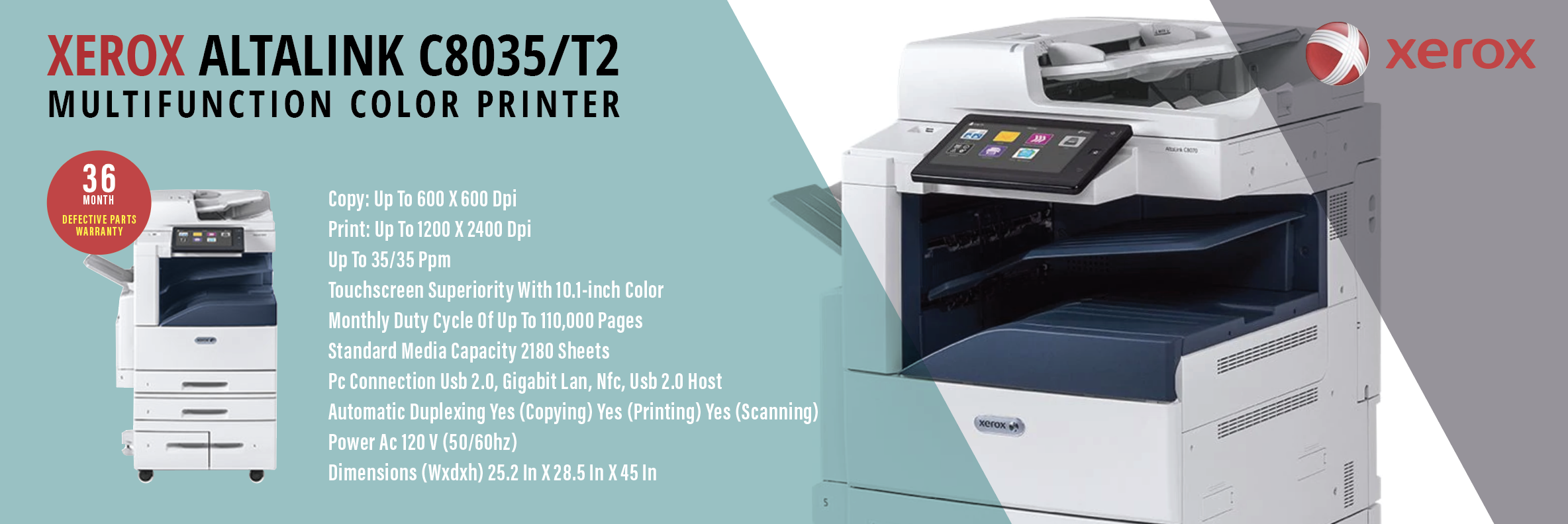 Xerox AltaLink C8035/T2 - Multifunction Color Printer