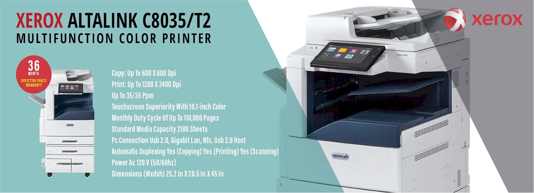 Xerox AltaLink C8035/T2 - Multifunction Color Printer