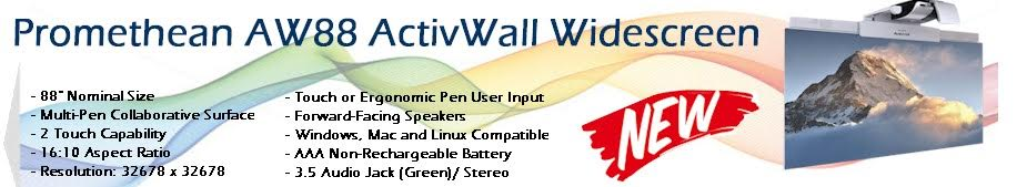 Promethean AW88 ActivWall 88-Inch Electronic Interactive Whiteboard