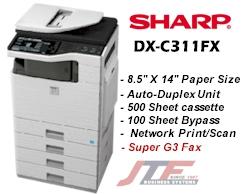 SHARP DX-C311FX PRINTER FAX DRIVER FOR PC