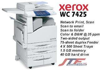 Xerox WorkCentre 7425 Color Copier Printer 35 Ppm
