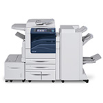 Xerox WorkCentre 7556 Color Multifunction Printer - w/ Office Finisher, Fax Kit, 4 X 520 Paper Trays