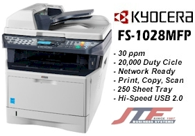 Kyocera FS-1028MFP/DP Printer/ Copier/Scanner @ 30 PPMFS-1028MFP/DP