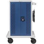 Bretford CORE24MSBP-90D Core MS Charging Cart AC for up to 24 devices, w/Back Panel, w/90º outlets