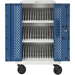 Bretford CORE36MS-90D Core MS Charging Cart AC for up to 36 devices, w/Rear Doors, w/90º outlets
