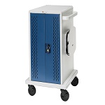 Bretford CORE36MSBP-90D Core MS Charging Cart AC for up to 36 devices, w/Back Panel, w/90º outlets