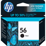 HP C6656AN No.56 Black Ink Cartridge (450 Pages)