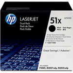 HP Q7551XD Black Dual Pack High Yield Toner Cartridge (13k Pages)