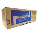Kyocera TK-592C Cyan Toner Cartridge (5k Pages)
