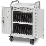 Bretford MDMLAP20-90D Pulse L Charging Cart for 20 Devices, w/Rear Doors, w/90º outlets