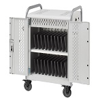Bretford MDMLAP20BP-90D Pulse L Charging Cart for 20 Devices, w/Back Panel, w/90º outlets