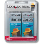 Lexmark 15M0120 Color Ink Cartridge 2-Pack (275 Pages)