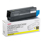 Okidata 42127401 Yellow Toner Cartridge (5k Pages)