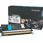 Lexmark C5242CH Cyan High Yield Toner Cartridge (5k Pages)