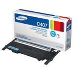 Samsung CLT-C407S Cyan Toner Cartridge (1k Pages)